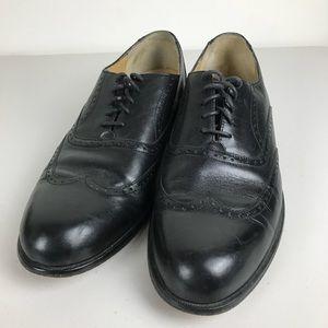 Dexter Comfort Black Wingtip Oxford Dress Shoes